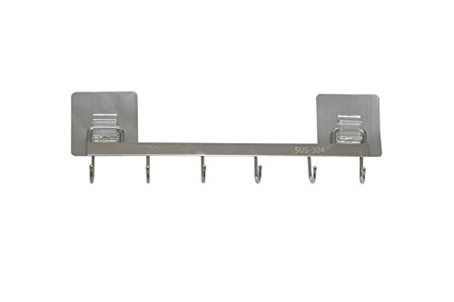 Kitchen Tools Stainless Steel Utensil Hanging Rack 6 Hooks t