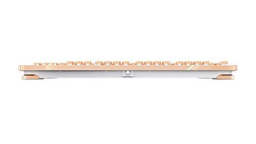 AZIO Vintage Inspired Mechanical Keyboard MK-RETRO-02 (White / Gold) 5