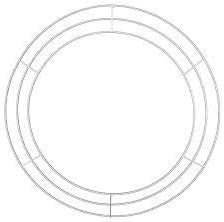 """22"""" Dia Elevated 3 Wire Wreath Frame - White"""