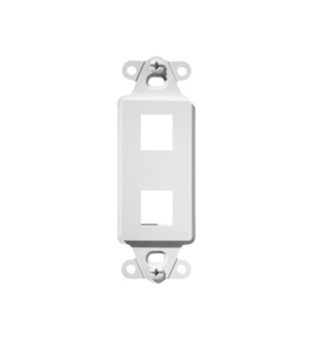 Legrand - On-Q WP3412WH 2-Port QuickPort Decorator Outlet Strap, ()