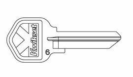 6 Pin Key Blank - Kwikset Original Key Blank 6 Pin 81208 (10 Pack)