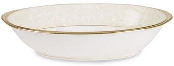 White Oval Vegetable Bowl - Noritake White Palace Oval Vegetable Bowl