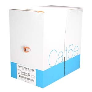Arrowmounts AM-Cat5e-Bulk-900OR 1000' Cat 5E Cat5e Solid Wire Bulk Ethernet LAN Network Cable Orange CMR