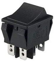 s E-Switch R5ABLKBLKEF0 R5 Series 20 A DPST On-Off Quick Connect Panel Mount Rocker Switch 5 Item