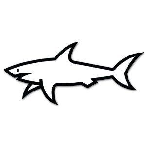Printable Shark Outline — Printable Treats.com