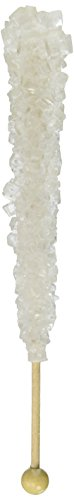 Candy Buffet Store Clear Rock Candy on a Stick, Swizzle Sticks - Pack of 12 (White Sugar) - How To Build a Candy Buffet Table Guide Included