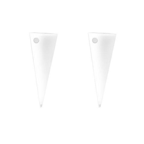 MonkeyJack 2Pieces Cone Shape Hanging Glass Hydroponic Flower Vase Wall Mounte Cone Terrarium - Glass Flower Cone