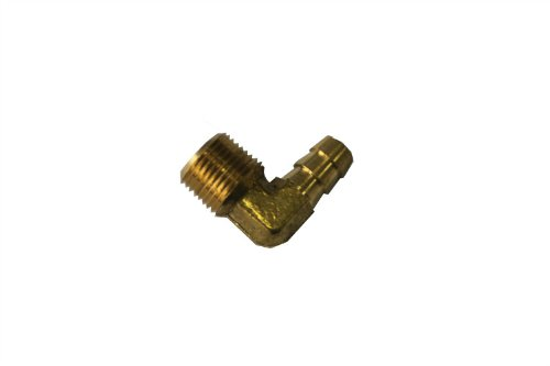 LTWFITTING 90 Degree Elbow Brass Barb Fitting 3//8-Inch ID Hose x 3//8-Inch Male NPT Fuel Boat Water Pack of 5