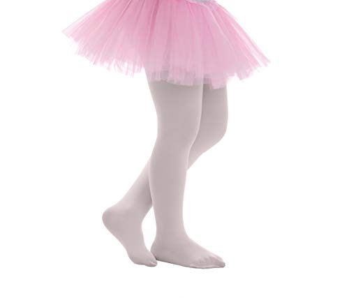 Girls Tights Opaque Microfiber Pantyhose Kids Solid Footed Leggings for Dance School Ballet Uniform by Topfit