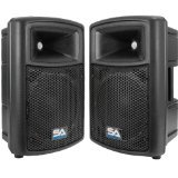 Seismic Audio NPS-10Pair   Pro Audio PA DJ 10-Inch Speakers - Lightweight Molded Cabinets - 300 Watts by Seismic Audio
