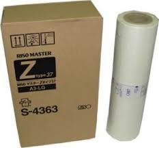 Risograph Genuine Brand Name, OEM S4363 (S-4363) A3 Master (2/PACK) for EZ590, EZ590U, MZ770, RZ200EP, RZ300, RZ370, RZ370C, RZ370CN, RZ390, RZ590 Printers