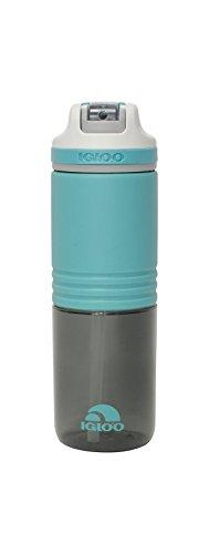 (Igloo Swift Water Bottle, Aqua/Asphalt, 24 oz)