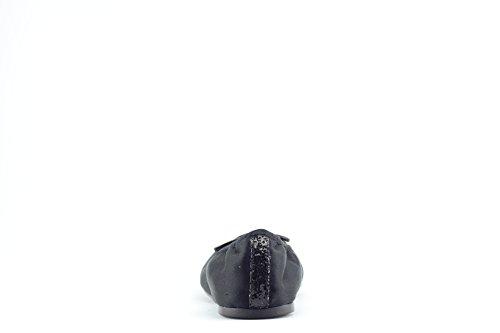 GUESS Zapatos Bailarinas Mujer eleganti de raso con purpurina Mod. fl2faosat02Col. Beige o negro. negro