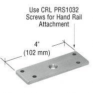C.R. LAURENCE PFS1BS CRL Brushed Stainless 180 Degree Post P-Series Flat Replacement Saddle