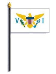 Virgin Islands Flag 4X6 Inch Mounted E Gloss
