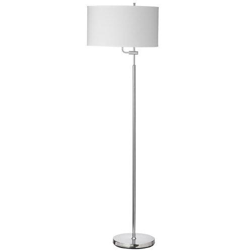 Dainolite 156F-PC Adjustable Floor Lamp, White Shade