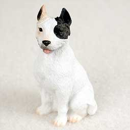 (Pit Bull Terrier Miniature Dog Figurine - White)
