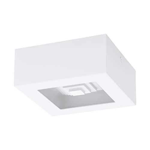EGLO Ferreros, Led-plafondlamp, 1 vlammige plafondlamp, woonkamerlamp, keukenlamp van staal en kunststof, hal lamp…