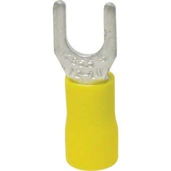 Papaparts Vinyl Insulated #6 Size Spade/Fork Terminals 12-10 Gauge (Yellow) Pack of 1000 by Papaparts
