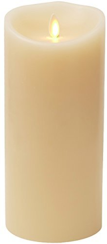 (Darice Luminara® Flameless Candle - Ivory Wax Unscented Classic Pillar - 9 in)