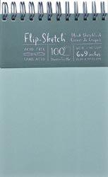 Global Art Bulk Buy Flip Sketch Blank Sketchbook 6 inch x 9 inch 100 Pages Mist (2-Pack)