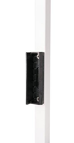 BLACK LAKZ P1 Economical garden/pedestrian gate lock (polyamide housing and stainless steel mechanism) with SMKLQF2 Polyamide garden gate keep in RAL 9005 by LOCINOX by LOCINOX (Image #3)