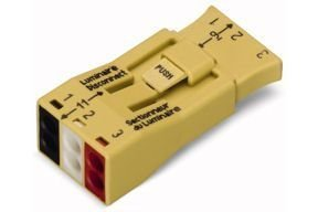 Brass Electronic Ballast - Wago 873-903 LUMI-NUTS? PUSH WIRE? 3-Pole Connector for Luminaire Disconnect 500 PK
