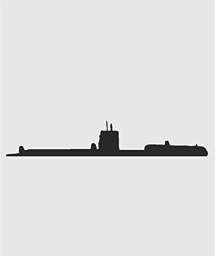 Design with Vinyl MISC 502-382 Decor Item Us Military Navy Nautical Submarine Ship Picture Art Men Boys Room Home Decor Sticker Vinyl Decal, 6-Inch x 20-Inch, Black