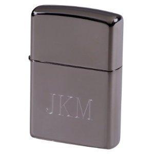 Zippo Favors (Groomsman Zippo Black Ice Pocket Lighter Free Engraving)