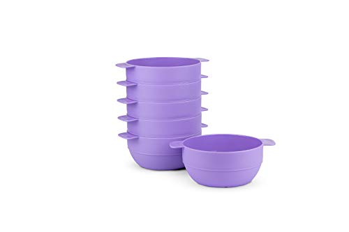 Amuse- Unbreakable & Stackable Bowls < Dessert, Cereal or Ice Cream > - 6 pcs- 16.9 oz (Dark -