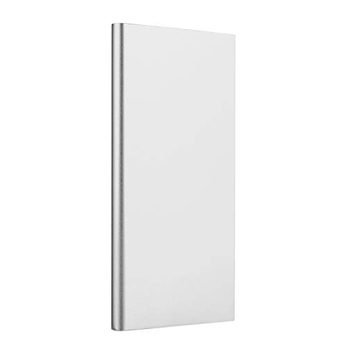 Roseni Ultra-Thin 20000mAh Portable External Battery Charger Power Bank for Cell Phone (Silver)
