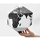 Here Foldable Personal Globe ~World by Countries ~3 Dimensional Quality Graphic Paper Globe ~ ()