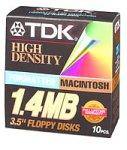 TDK 10-Pack of Mac-Formatted Floppy Disks (MF2HDMFBHRB)
