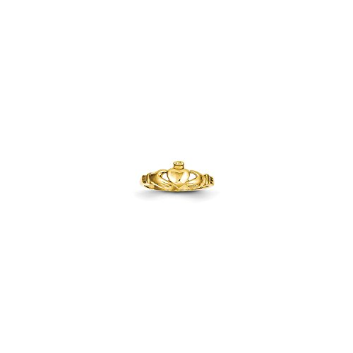 Roy Rose Jewelry 14K Yellow Gold Claddagh Baby Ring ~ Size 1