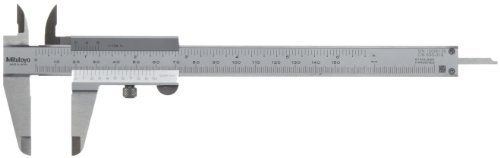 (Mitutoyo 530-316 Vernier Caliper, Stainless Steel, Inch/Metric, 0-6