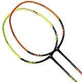 Yonex 2018 New Nanoray Ace Badminton Strung Racket (Black Orange)