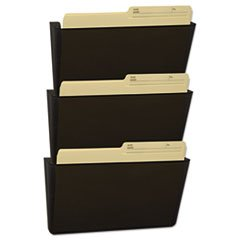Storex 70246U06C Wall File, Letter, 13 x 14, Three Pocket, Smoke by Unknown (Image #1)