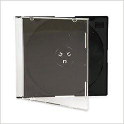 Vision Media 10x Delgado Negro Estuche de CD - 5.2mm Espina: Amazon.es: Libros