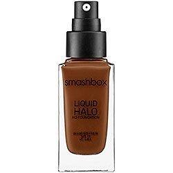 Smashbox Liquid Halo Hd Foundation SPF 15 - Shade 10 - Natural Deep Cocoa for Dark Complexions (BNIB) by Smashbox Cosmetics (Smashbox Liquid Halo Hd Foundation Spf 15)
