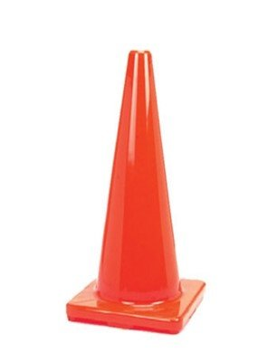 (8 Cones) CJ Safety 28'' PVC Traffic Safety Cones - No Reflective Collars (Set of 8)
