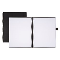 Office Depot(R) Brand Hard Cover Premium Business Notebook, 8 1/2in. x 11in, 1 Subject, Narrow Ruled, 120 Pages (60 Sheets), Black by Office Depot (Image #3)