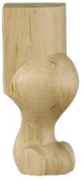 Queen Anne Feet - Queen Anne French Provincial Bun Foot, Hard Maple