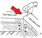 6.5 Ft Vinyl Top Rail Cap with Mitered Corner for Use with Fanta-seaTM Swimming -