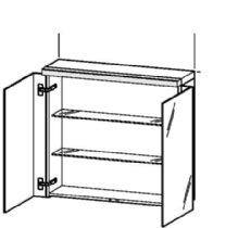 Duravit FO967406565 Mirror cabinet with wooden underfloor