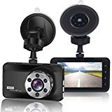 """ORSKEY Dash Cam 1080P Car DVR Dashboard Camera Full HD 170 Wide Angle with 3.0"""" LCD Display, WDR, Loop Recording, Motion Detection and G-Sensor"""