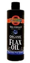 Veg-Omega 3 Organic Flax Oil Unrefined Spectrum Essentials 16 oz Liquid