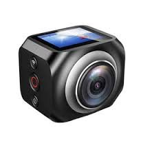 "360 Degree Action Camera 1.5"" Screen 19201440 30fps Video WiFi Spherical Lens HDMI WORRYFREE GADGETS"