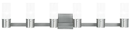Livex Lighting 50685-91 Midtown 6-Light Bath Light, Brushed Nickel ()