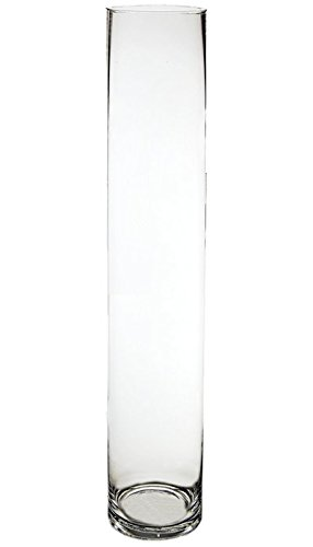 CYS GCY122/40 Straight Down Glass Cylinder Vase, 40