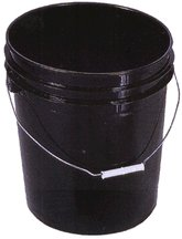 Black Bucket (Encore Plastics 250003 70-Mil Regrind Pail/Bucket, 5-Gallon, Black)